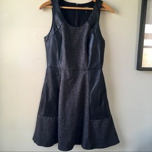 The Limited faux leather skater dress